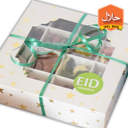 sweet gift box with assorted sweets